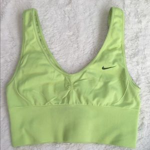 Bright neon Nike sports bra